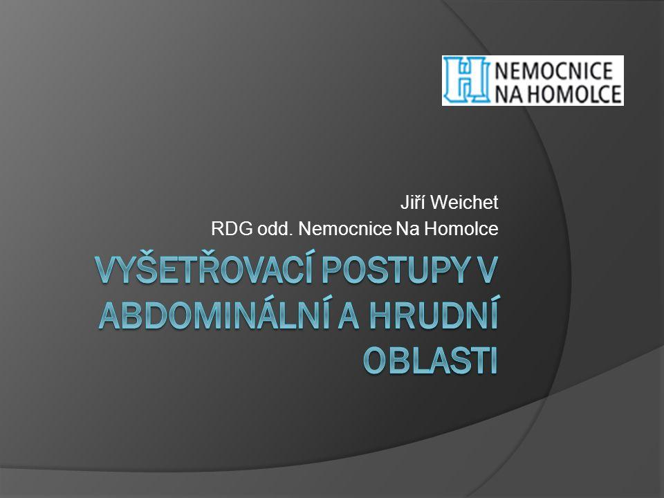 Jiří Weichet RDG odd. Nemocnice Na Homolce