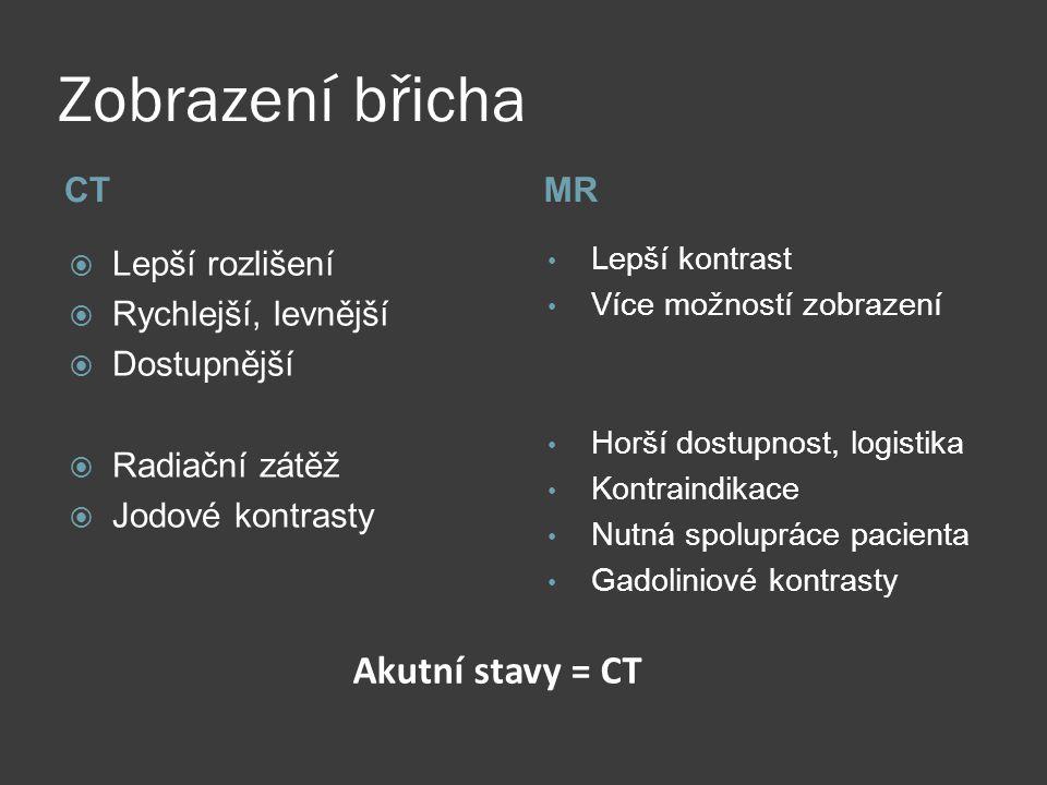 MR břicha  Játra  MRCP  Pankreas  Ledviny  MR enterografie