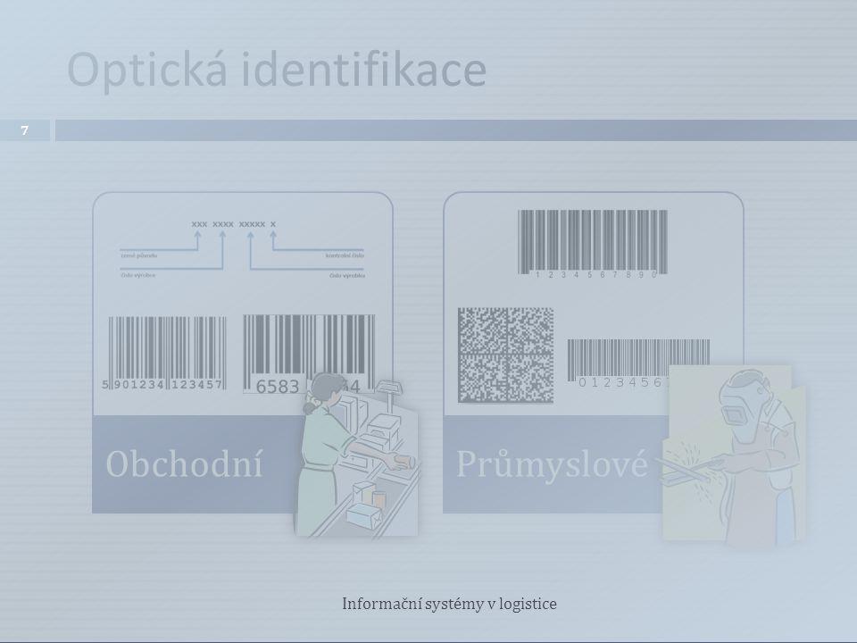 Optická identifikace ObchodníPrůmyslové 7 Informační systémy v logistice