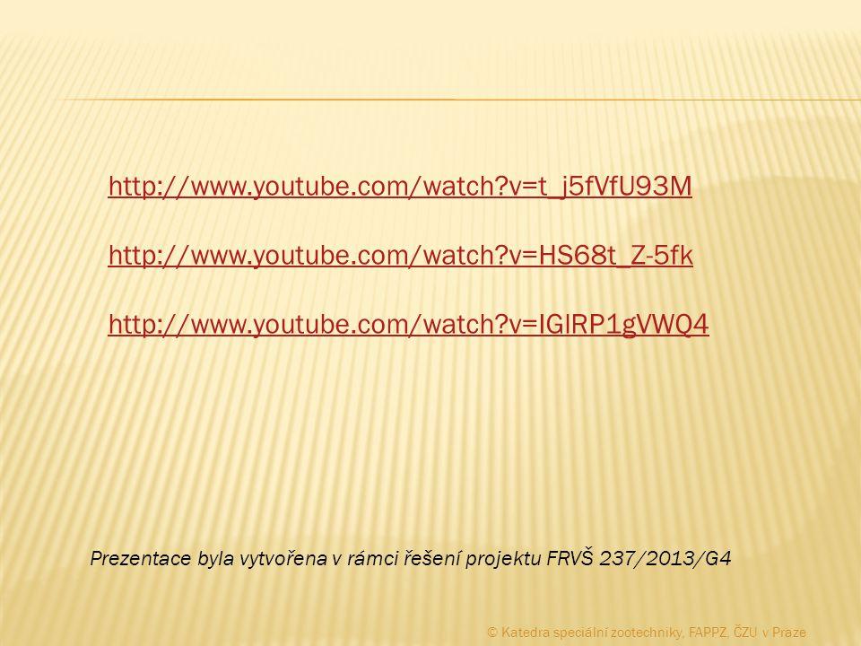 http://www.youtube.com/watch?v=t_j5fVfU93M http://www.youtube.com/watch?v=HS68t_Z-5fk http://www.youtube.com/watch?v=IGlRP1gVWQ4 Prezentace byla vytvo