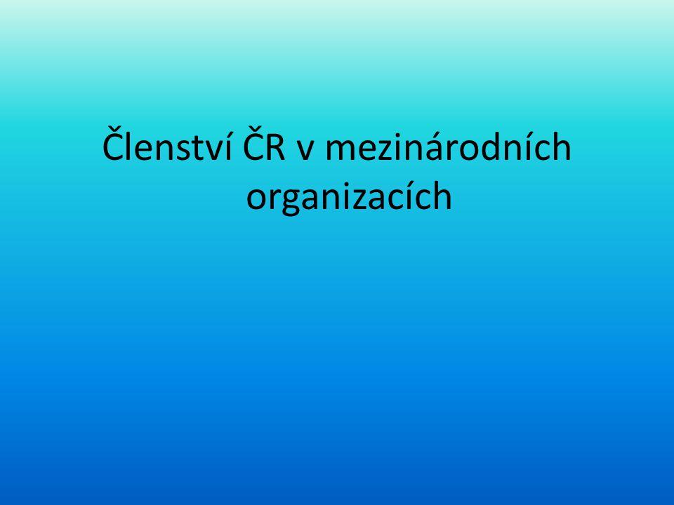 Členství ČR v mezinárodních organizacích