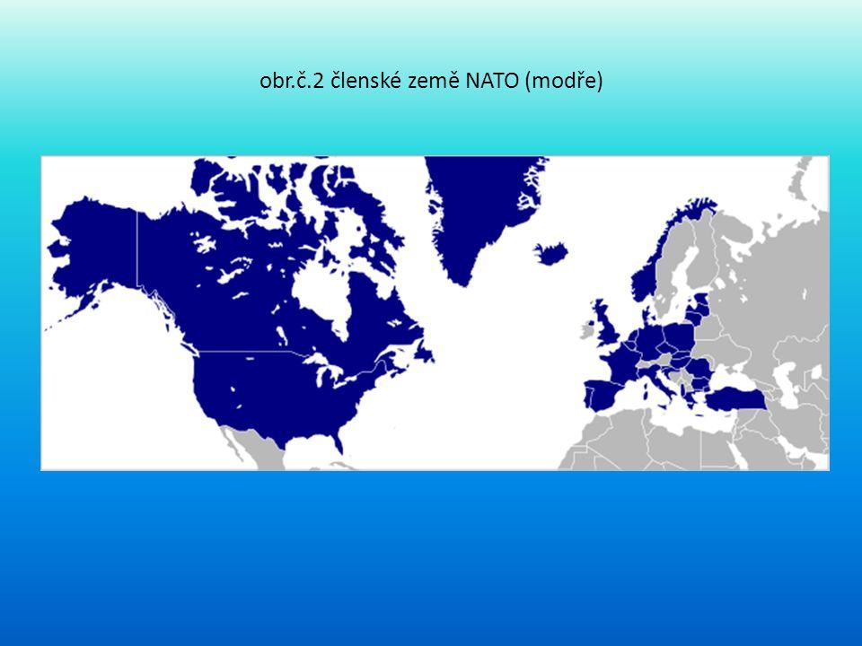 obr.č.2 členské země NATO (modře)