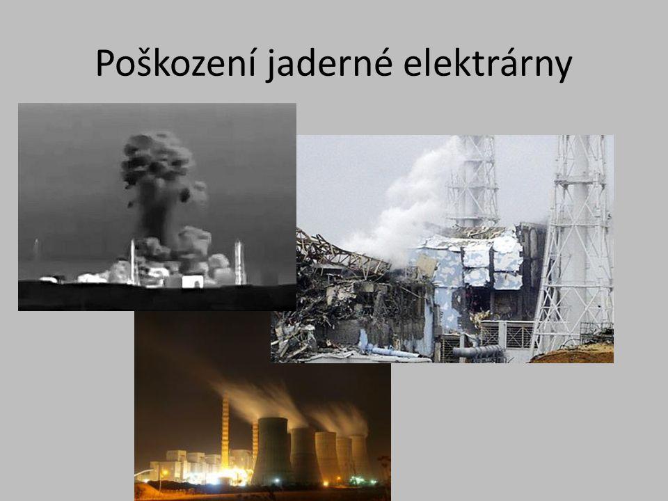 Jaderná elektrárna Fukušima Po havárii reaktorů bylo vytvořeno bezpečnostní ochranné pásmo.