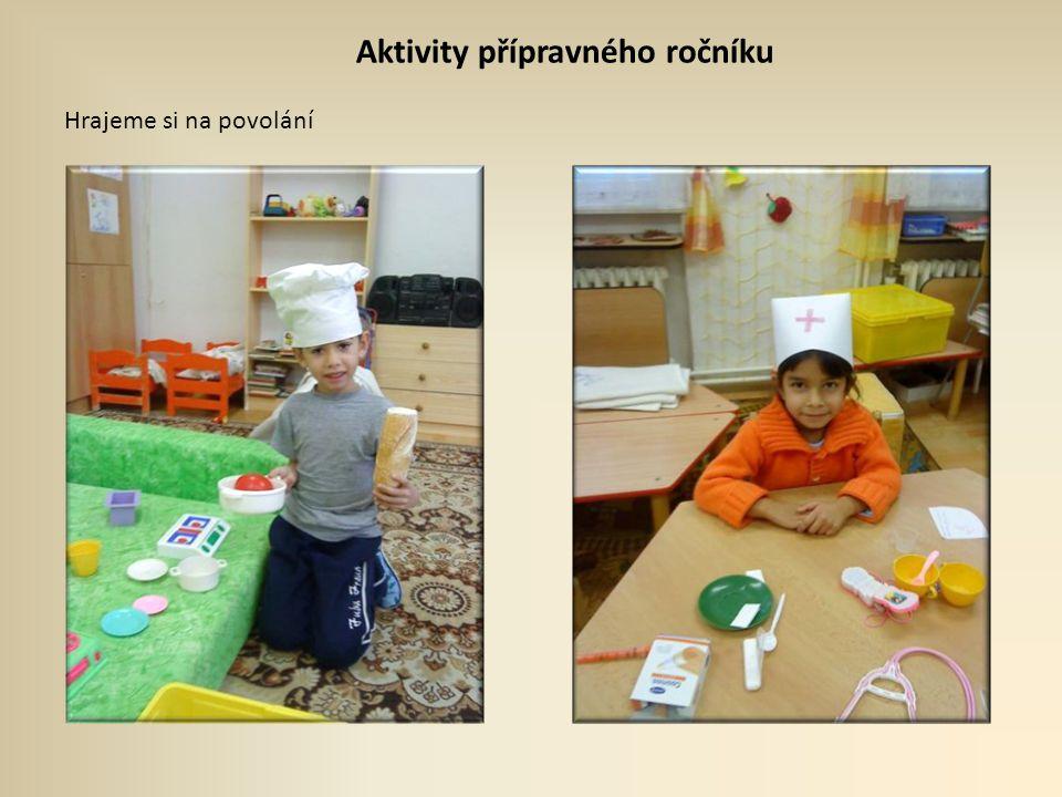 Aktivity přípravného ročníku Hrajeme si na povolání