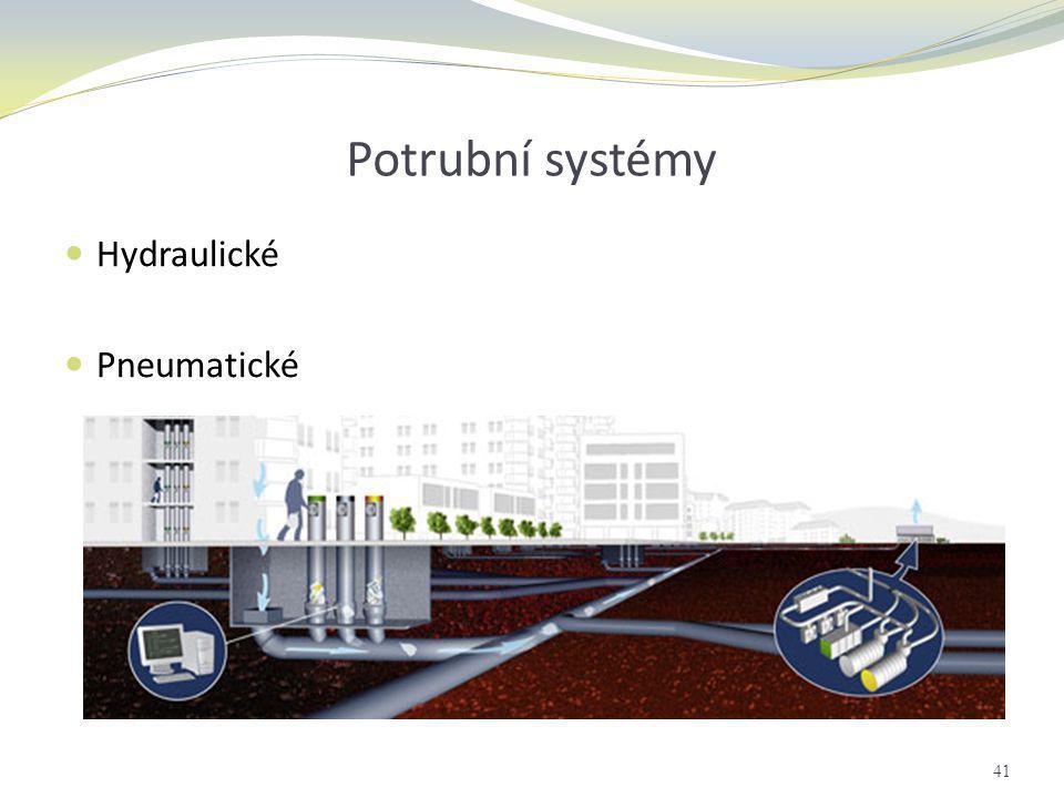 Potrubní systémy  Hydraulické  Pneumatické 41