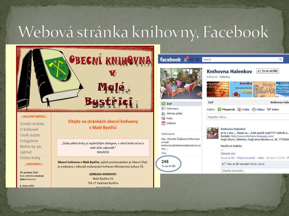  Odkaz na stánku knihovny z webu obce