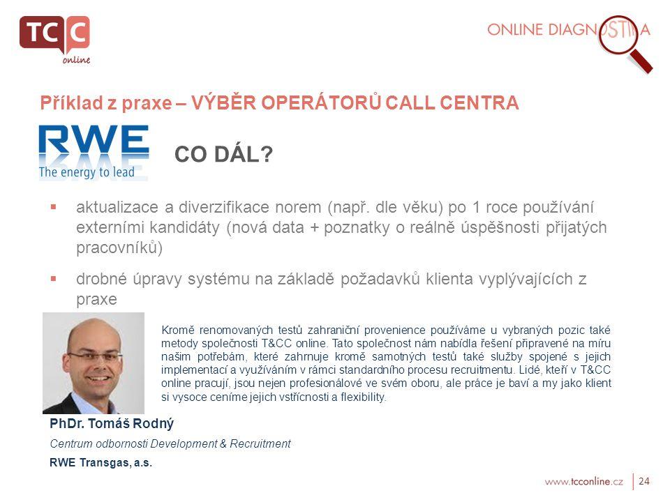 24 CO DÁL. aktualizace a diverzifikace norem (např.