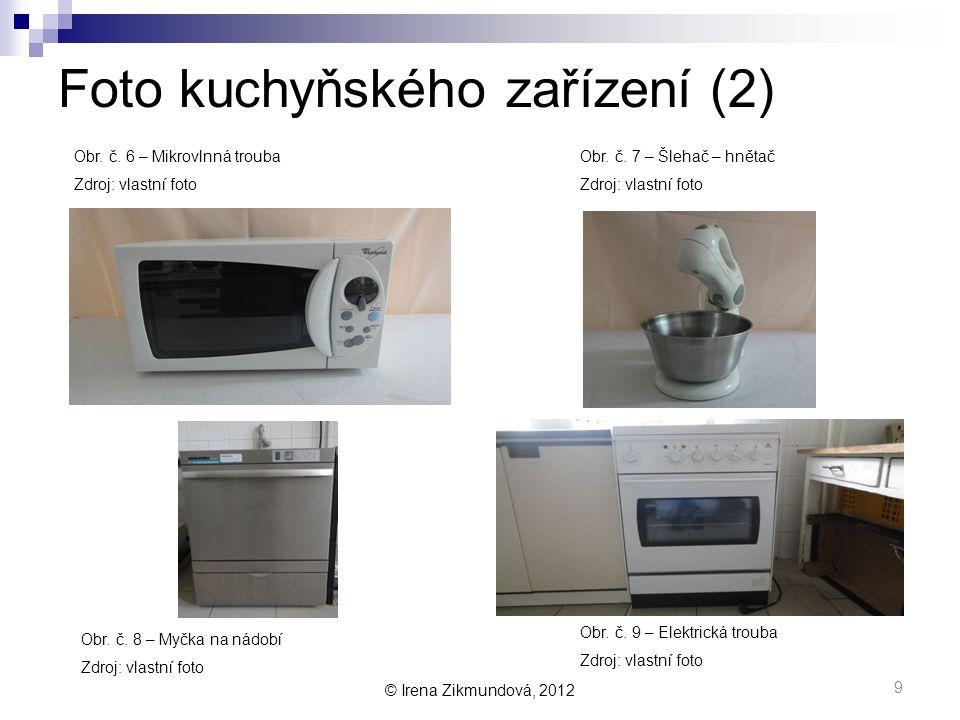 © Irena Zikmundová, 2012 Foto kuchyňského zařízení (2) Obr.