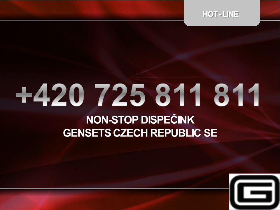 HOT - LINE NON-STOP DISPEČINK GENSETS CZECH REPUBLIC SE
