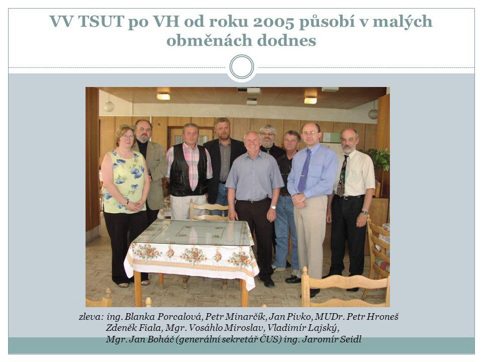 VV TSUT po VH od roku 2005 působí v malých obměnách dodnes zleva: ing. Blanka Porcalová, Petr Minarčík, Jan Pivko, MUDr. Petr Hroneš Zdeněk Fiala, Mgr