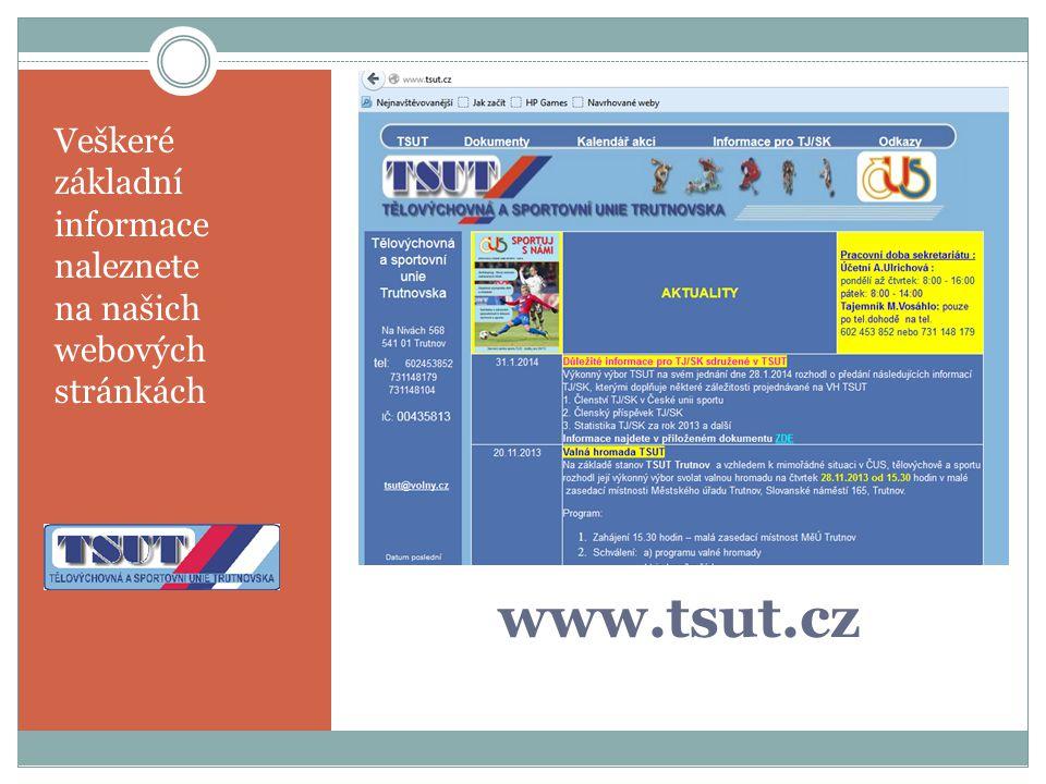 www.tsut.cz Veškeré základní informace naleznete na našich webových stránkách