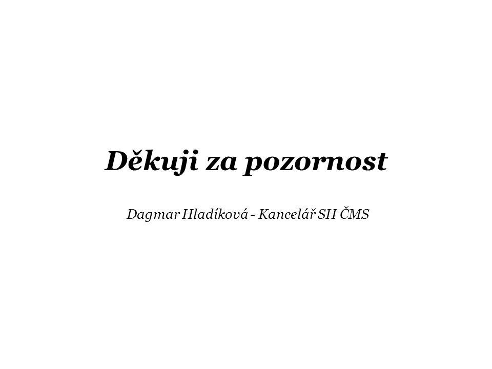 Děkuji za pozornost Dagmar Hladíková - Kancelář SH ČMS