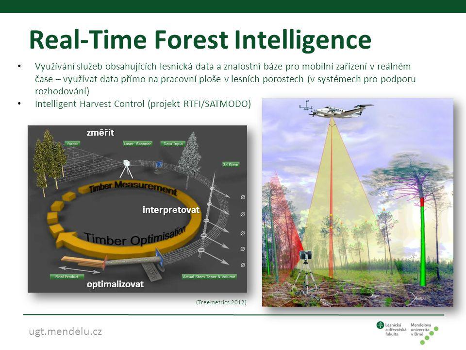 ugt.mendelu.cz Real-Time Forest Intelligence • Využívání služeb obsahujících lesnická data a znalostní báze pro mobilní zařízení v reálném čase – využ