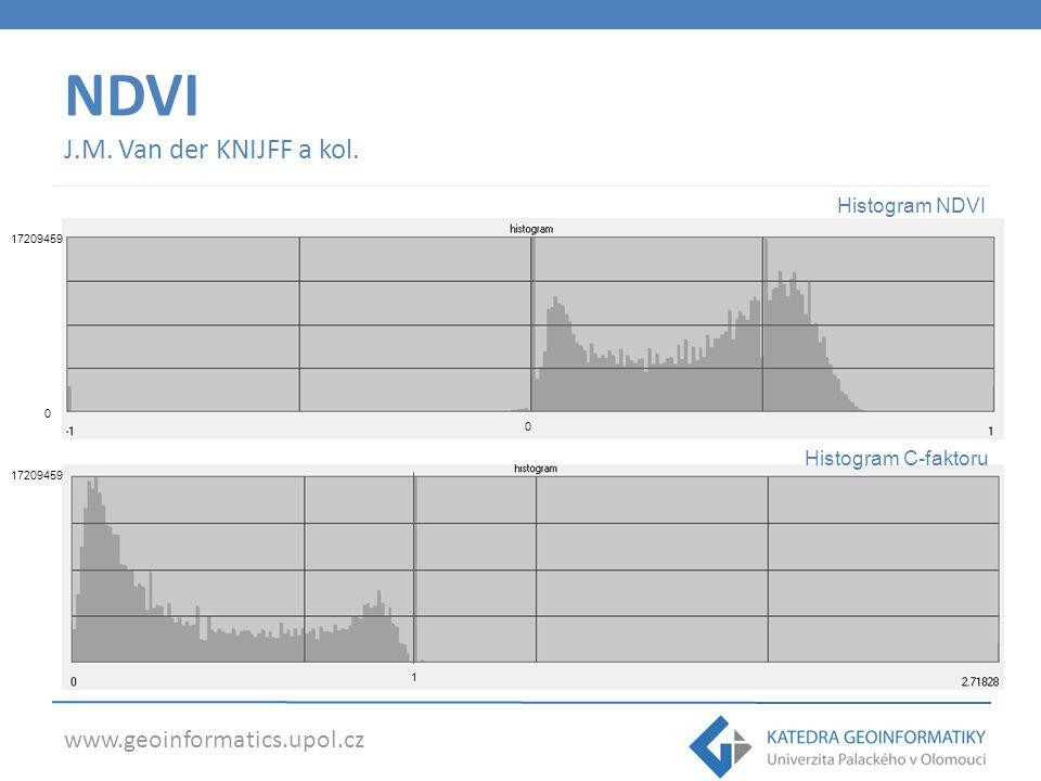 www.geoinformatics.upol.cz NDVI J.M. Van der KNIJFF a kol. 1 0 17209459 Histogram NDVI Histogram C-faktoru 0