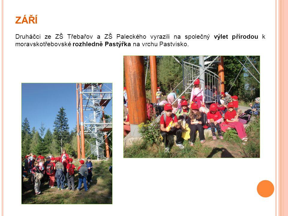 ZÁŘÍ Druháčci ze ZŠ Třebařov a ZŠ Paleckého vyrazili na společný výlet přírodou k moravskotřebovské rozhledně Pastýřka na vrchu Pastvisko.