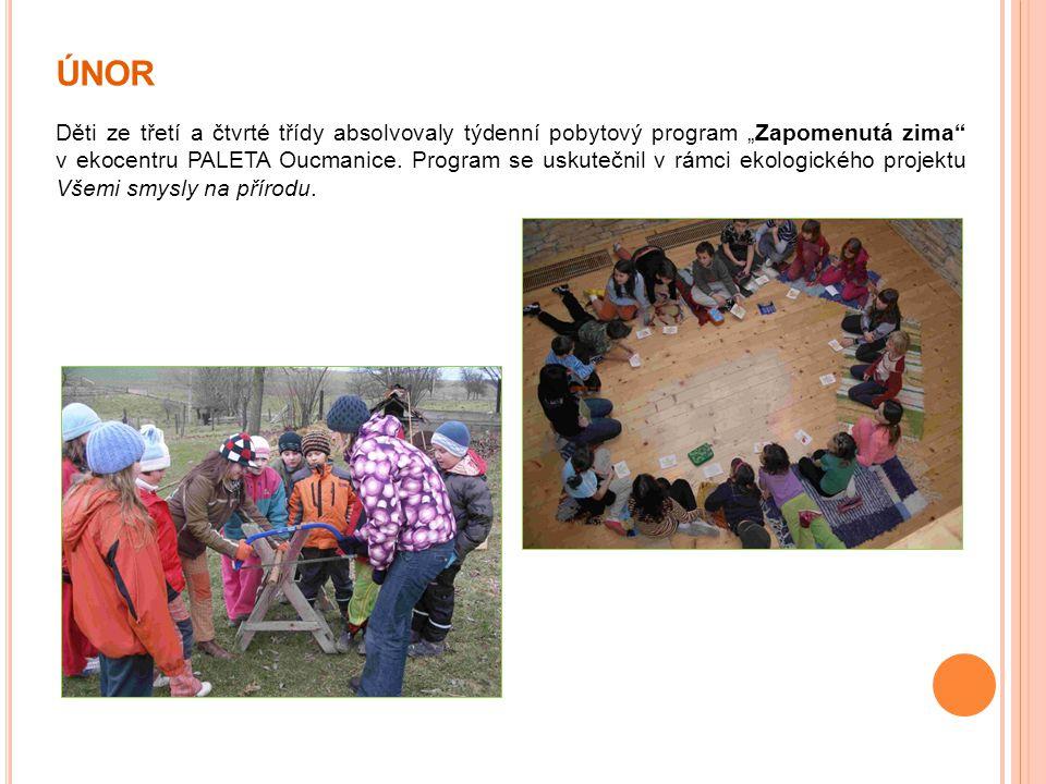 """ÚNOR Děti ze třetí a čtvrté třídy absolvovaly týdenní pobytový program """"Zapomenutá zima"""" v ekocentru PALETA Oucmanice. Program se uskutečnil v rámci e"""