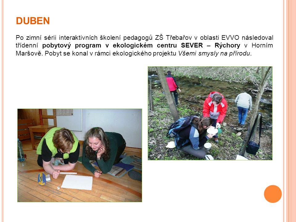 DUBEN Po zimní sérii interaktivních školení pedagogů ZŠ Třebařov v oblasti EVVO následoval třídenní pobytový program v ekologickém centru SEVER – Rých