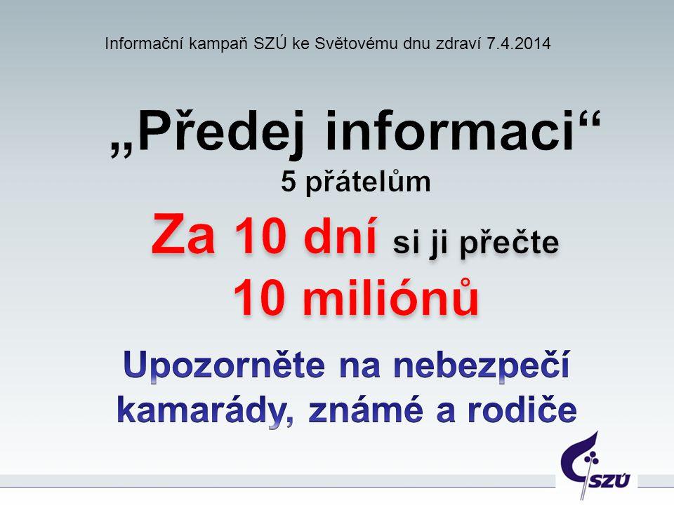 Informační kampaň SZÚ ke Světovému dnu zdraví 7.4.2014