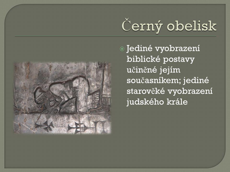  Jediné vyobrazení biblické postavy u č in ě né jejím sou č asníkem; jediné starov ě ké vyobrazení judského krále