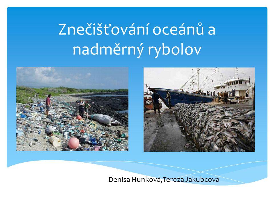 Znečišťování oceánů a nadměrný rybolov Denisa Hunková,Tereza Jakubcová