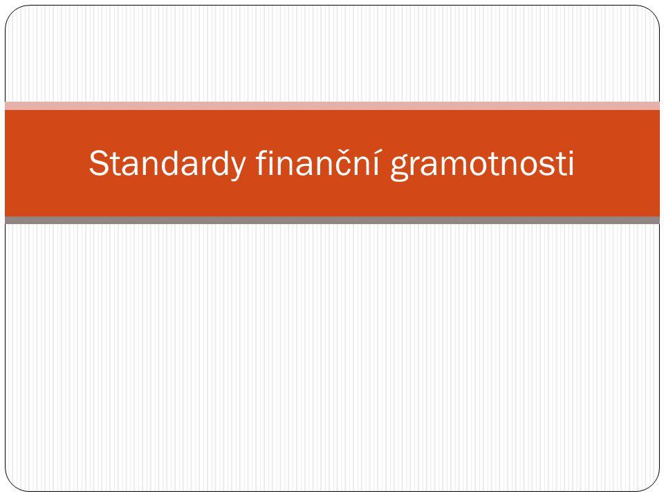 Standardy finanční gramotnosti