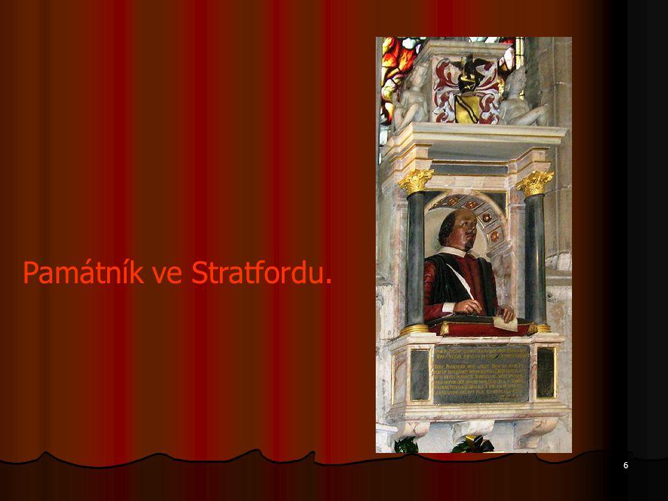 6 Památník ve Stratfordu.