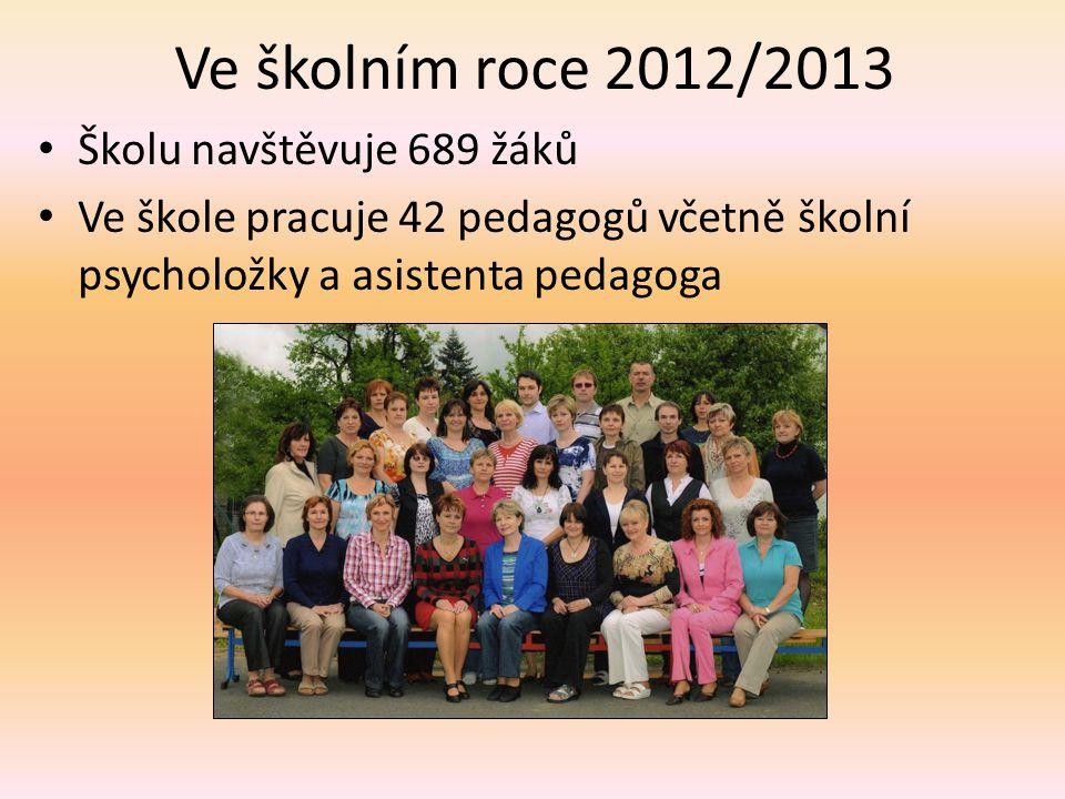 Ve školním roce 2012/2013 • Školu navštěvuje 689 žáků • Ve škole pracuje 42 pedagogů včetně školní psycholožky a asistenta pedagoga