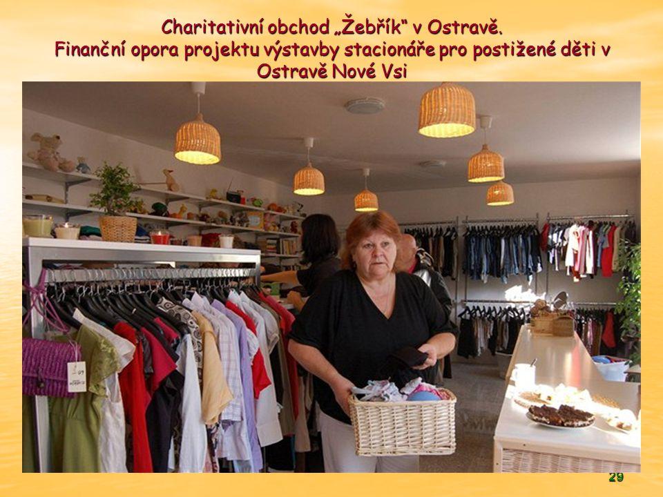 """29 Charitativní obchod """"Žebřík v Ostravě."""