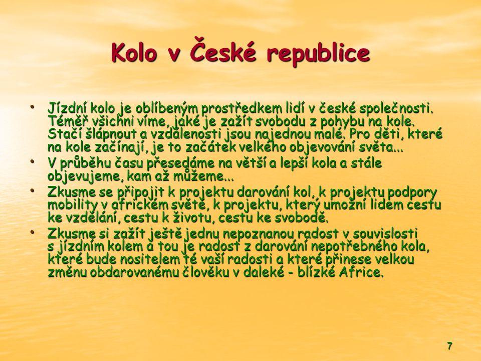 7 Kolo v České republice • Jízdní kolo je oblíbeným prostředkem lidí v české společnosti.