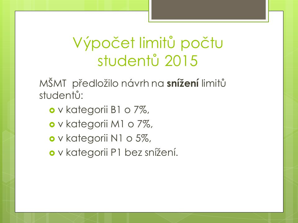 Závěry Reprekomise 17.12. Snížení M1 bude moci být kompenzováno s B1.