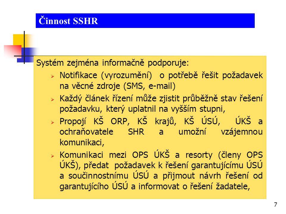 8 Provozní stavy IS  Pohotovostní stav IS - 365 dnů v roce Umožní: prohlížení dat a informací podle rozsahu oprávnění orgánu KŘ – a to:  z IS ARGIS (o nezbytných dodávkách),  a z IS KIS KD (o státních hmotných rezervách).