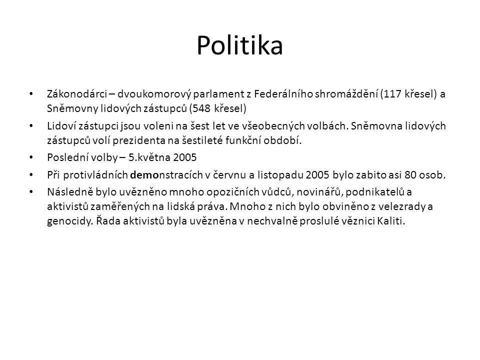 Politika • Zákonodárci – dvoukomorový parlament z Federálního shromáždění (117 křesel) a Sněmovny lidových zástupců (548 křesel) • Lidoví zástupci jso