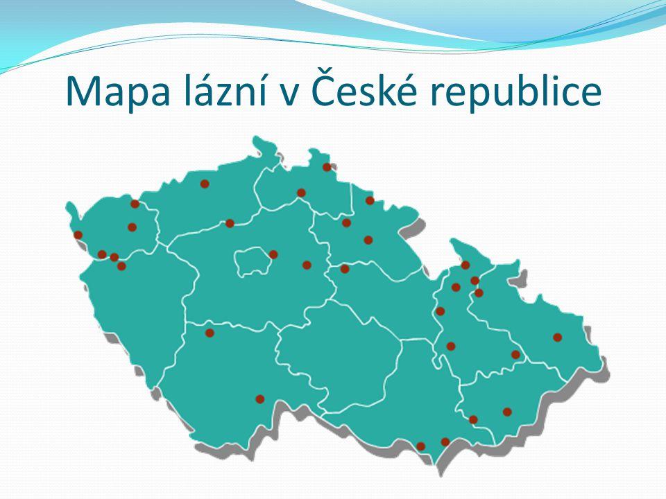 Mapa lázní v České republice
