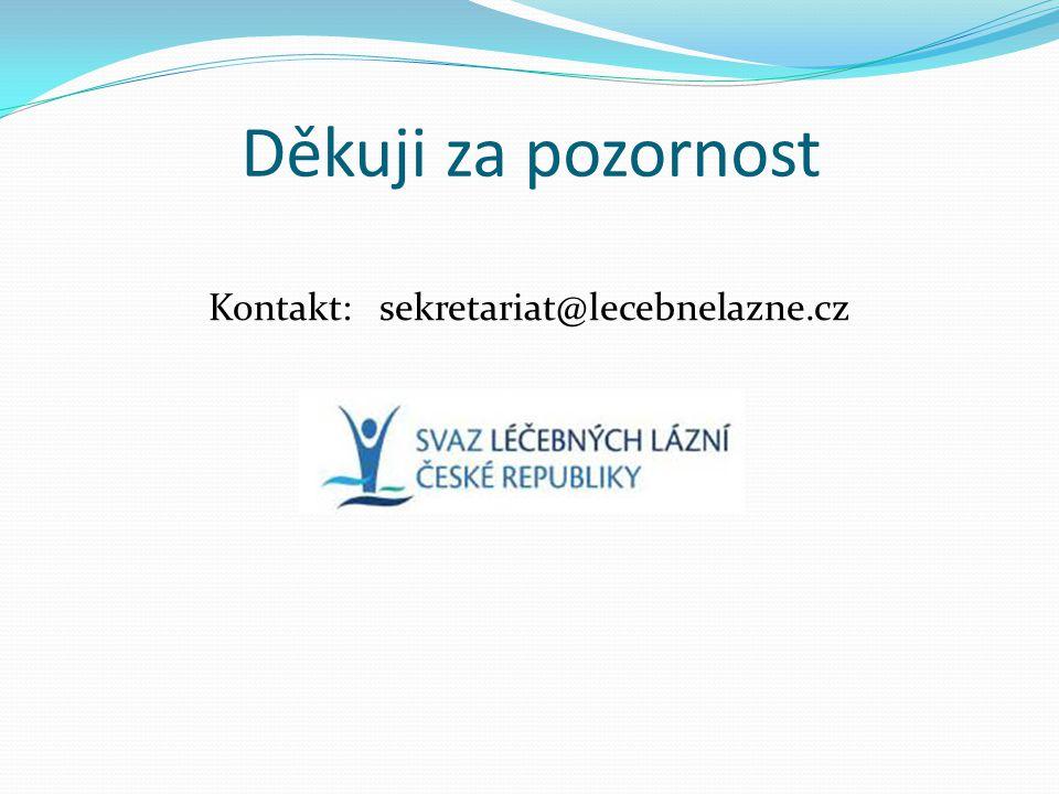 Děkuji za pozornost Kontakt: sekretariat@lecebnelazne.cz