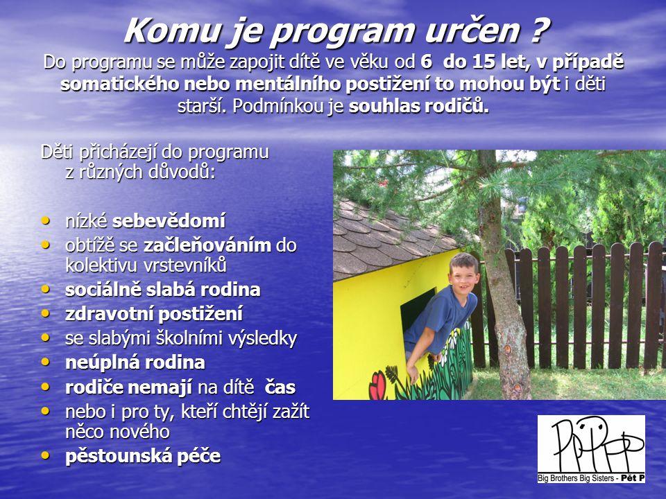 Pilíře programu • Rodiče + dítě – uživatelé.• Dobrovolník – poskytovatel terénní.