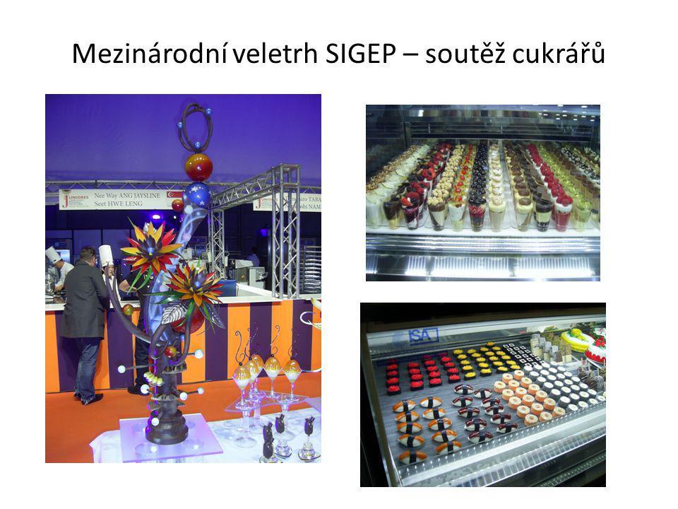 Mezinárodní veletrh SIGEP – soutěž cukrářů