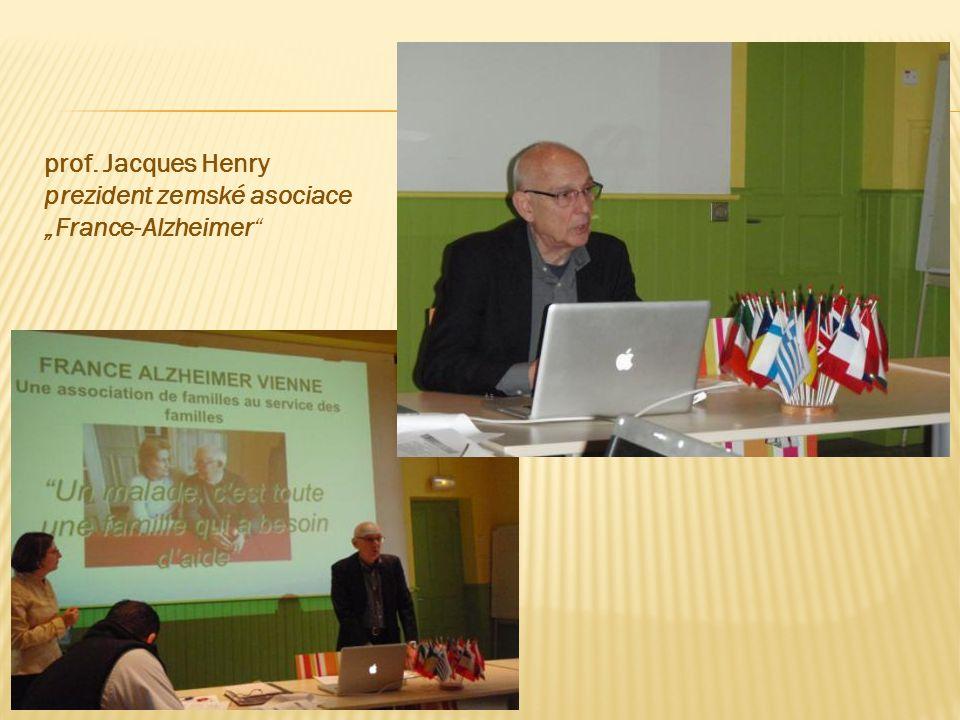 """prof. Jacques Henry prezident zemské asociace """"France-Alzheimer"""""""