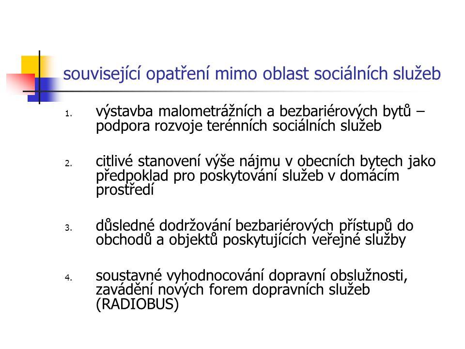 související opatření mimo oblast sociálních služeb 1.