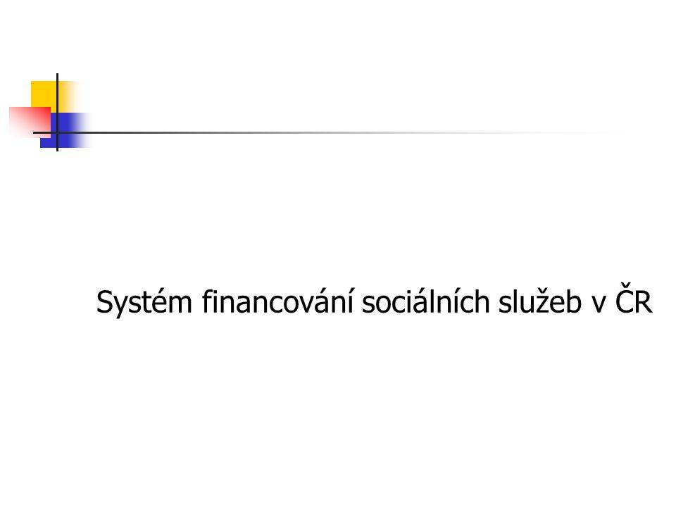Systém financování sociálních služeb v ČR