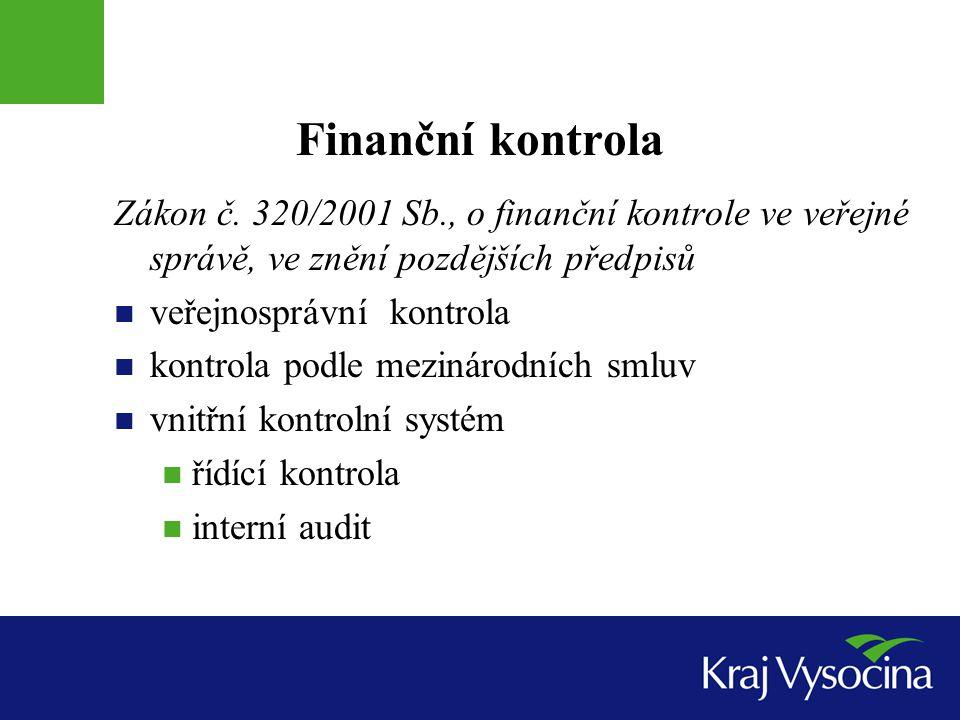 Finanční kontrola Zákon č.