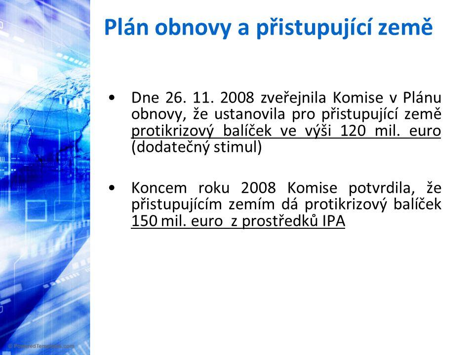 Plán obnovy a přistupující země •Dne 26. 11.
