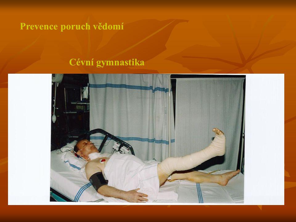Prevence poruch vědomí Cévní gymnastika