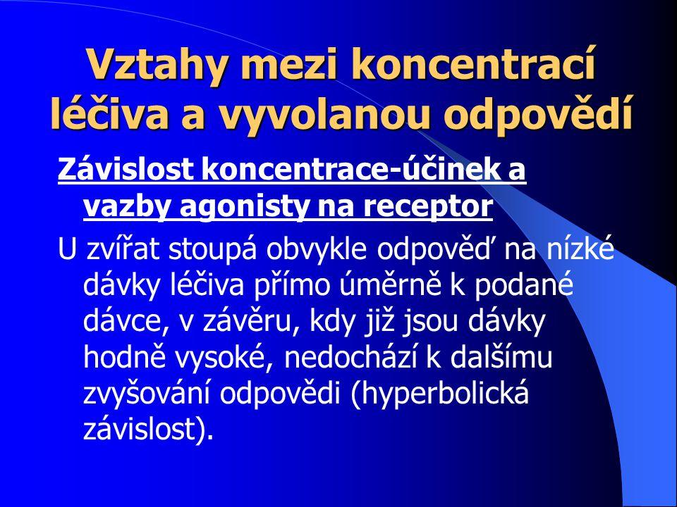 Nespecifický mechanismus účinku Jako jediný je tak označován účinek celkových anestetik.