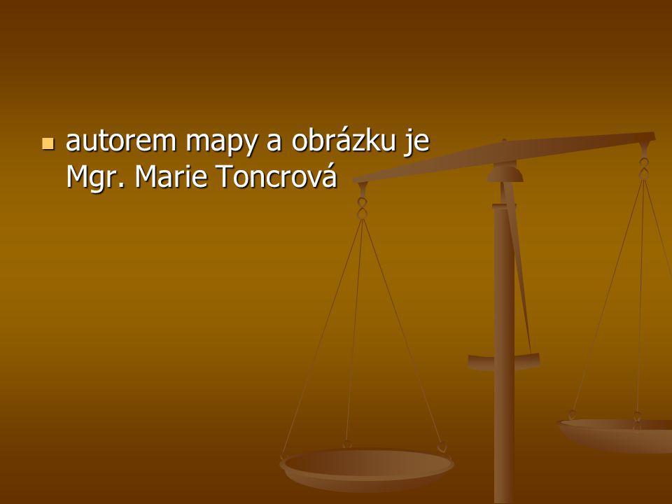  autorem mapy a obrázku je Mgr. Marie Toncrová