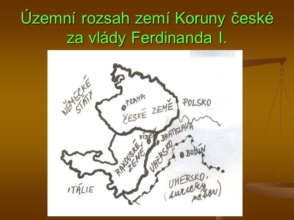 Územní rozsah zemí Koruny české za vlády Ferdinanda I.