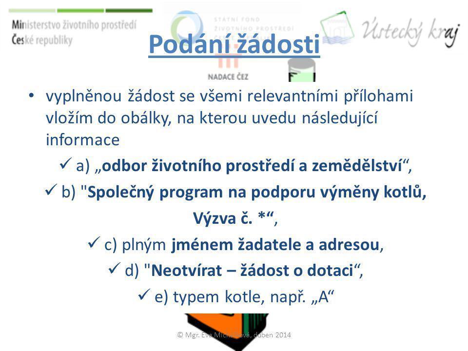 Vzor popisu obálky © Mgr. Eva Michálková, duben 2014