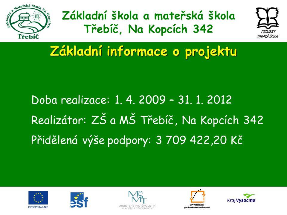 Základní škola a mateřská škola Třebíč, Na Kopcích 342 Inovace ŠVP Eliminace nedostatků ŠVP, propracování mezipředmětových vazeb a praktických aktivit žáků.