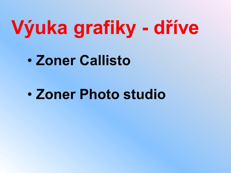 Výuka grafiky - dříve • Zoner Callisto • Zoner Photo studio