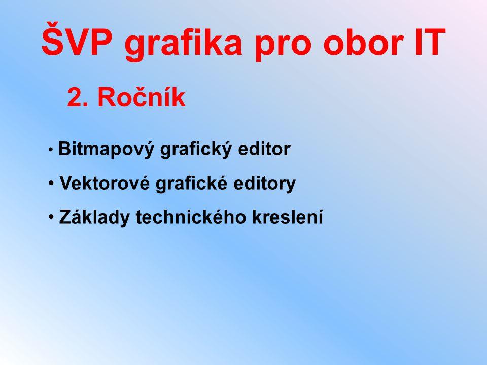 ŠVP grafika pro obor IT 2. Ročník • Bitmapový grafický editor • Vektorové grafické editory • Základy technického kreslení