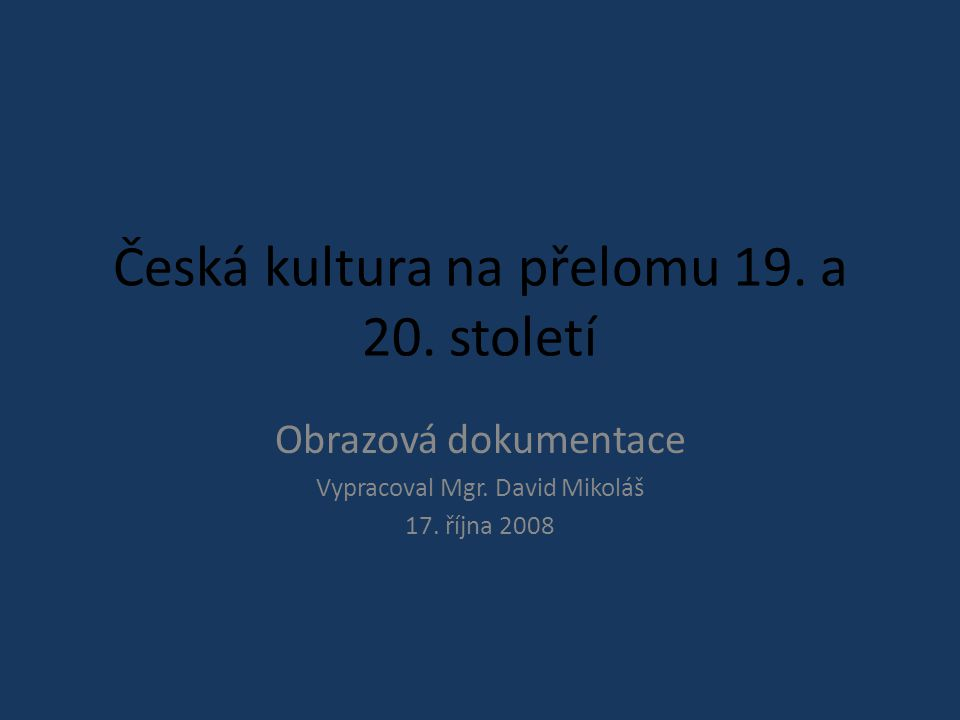 Antonín Slavíček Ve Veltruském parku
